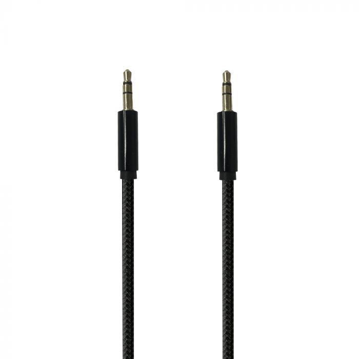 Cablu Jack 3.5mm Procell Audio Negru 1m (impletitura textila)