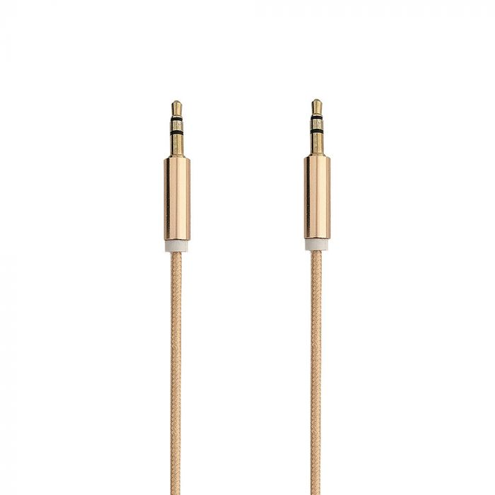 Cablu Jack 3.5mm Procell Audio Gold 1m (impletitura textila)