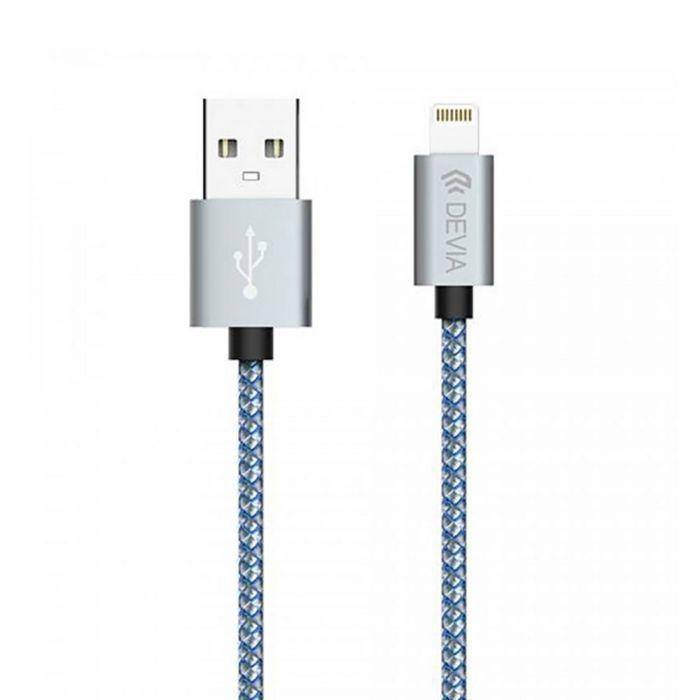 Cablu Lightning Devia Tube Gray