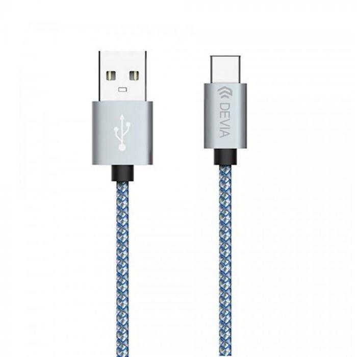 Cablu Type-C Devia Tube Gray