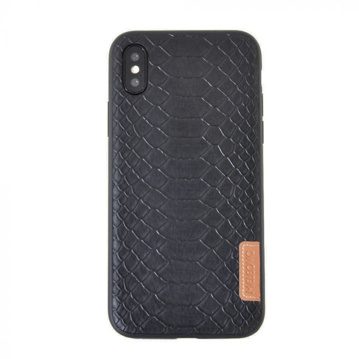 Carcasa iPhone X Meleovo Python Black