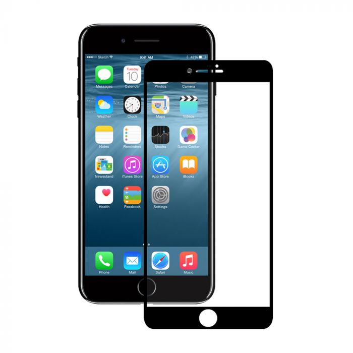 Folie iPhone 8 / 7 / 6 Eiger Sticla 3D Edge to Edge Clear Black