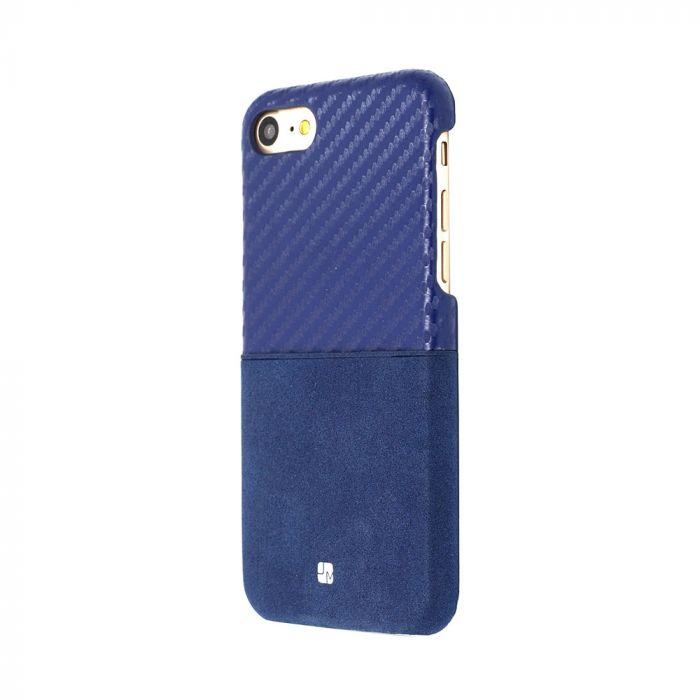Carcasa iPhone 7 Just Must Carbon Mix Navy (slot de card)