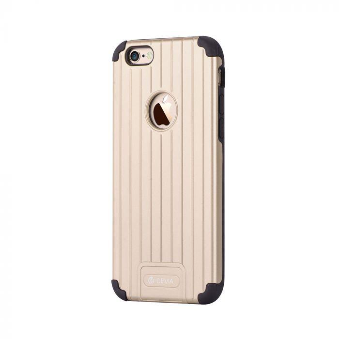 Carcasa iPhone 6 Plus Devia Suitcase Champagne Gold