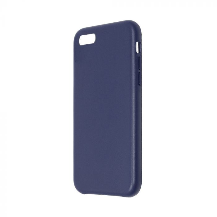 Carcasa iPhone 8 / 7 Just Must Origin Leather Midnight Blue (piele naturala)