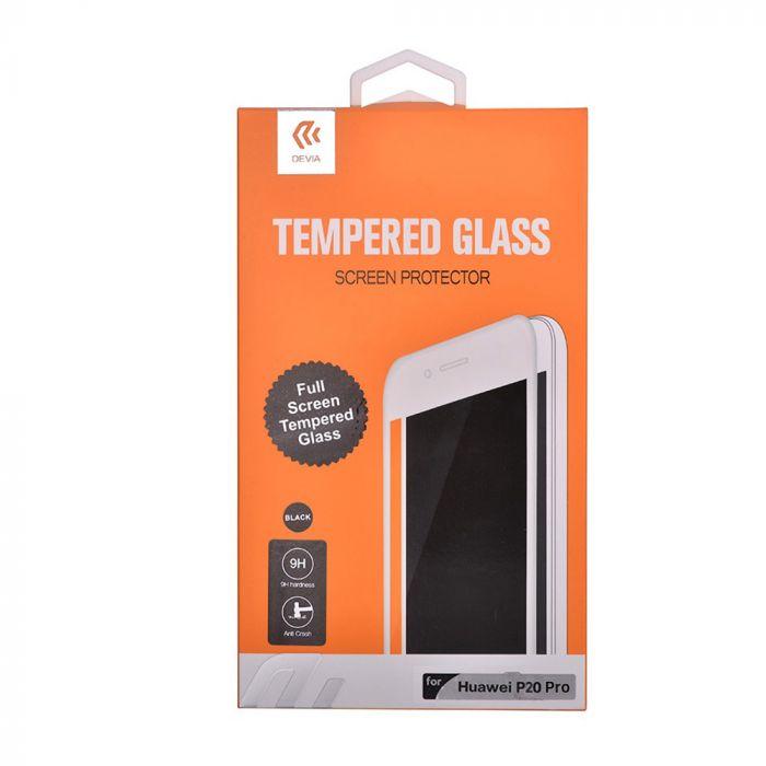 Folie Huawei P20 Pro Devia Frame Sticla Temperata Black