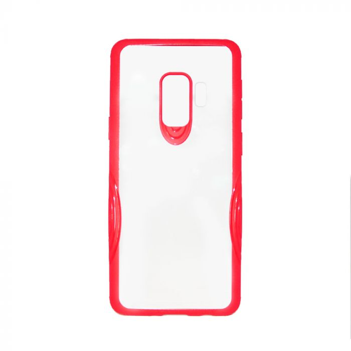 Carcasa Samsung Galaxy S9 G960 Just Must Pure Armor Red (spate transparent, margini cauciucate antis