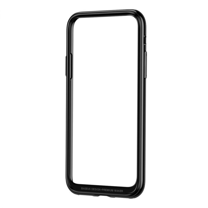 Bumper iPhone X Baseus Platinum Metal Border Black