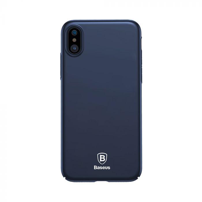 Carcasa iPhone X Baseus Thin Dark Blue (anti-amprente)