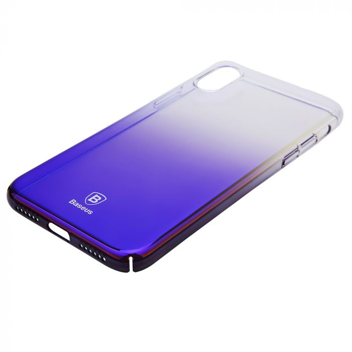 Carcasa iPhone X Baseus Glaze Transparent Dark Blue