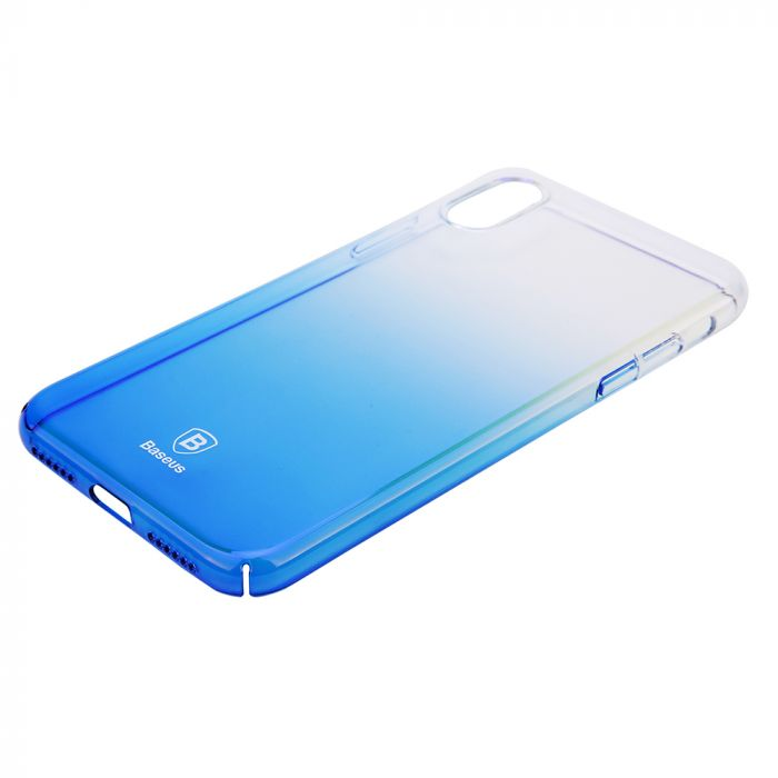 Carcasa iPhone X Baseus Glaze Transparent Blue