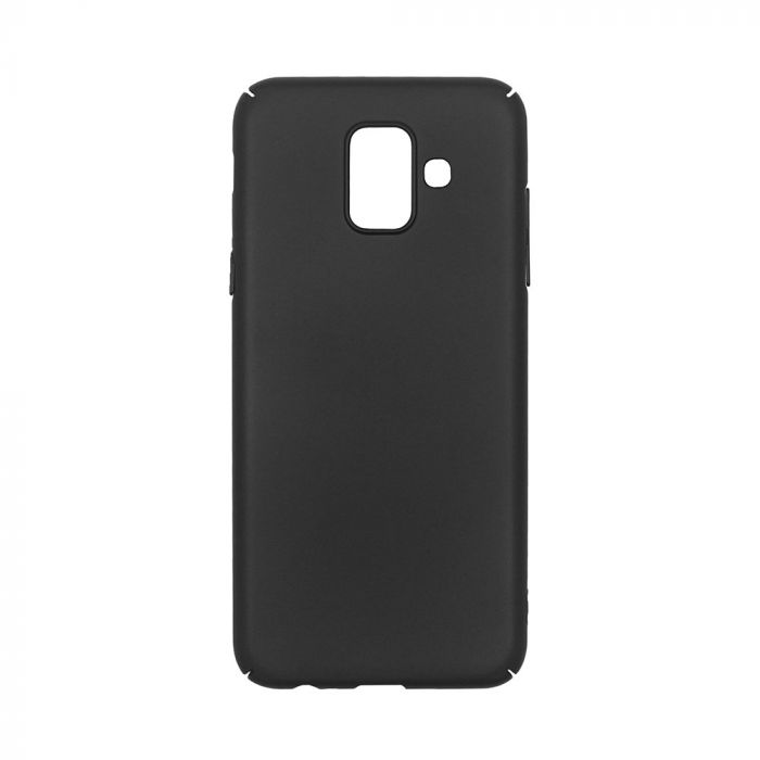 Carcasa Samsung Galaxy A6 (2018) Just Must Uvo Black (material fin la atingere, slim fit)