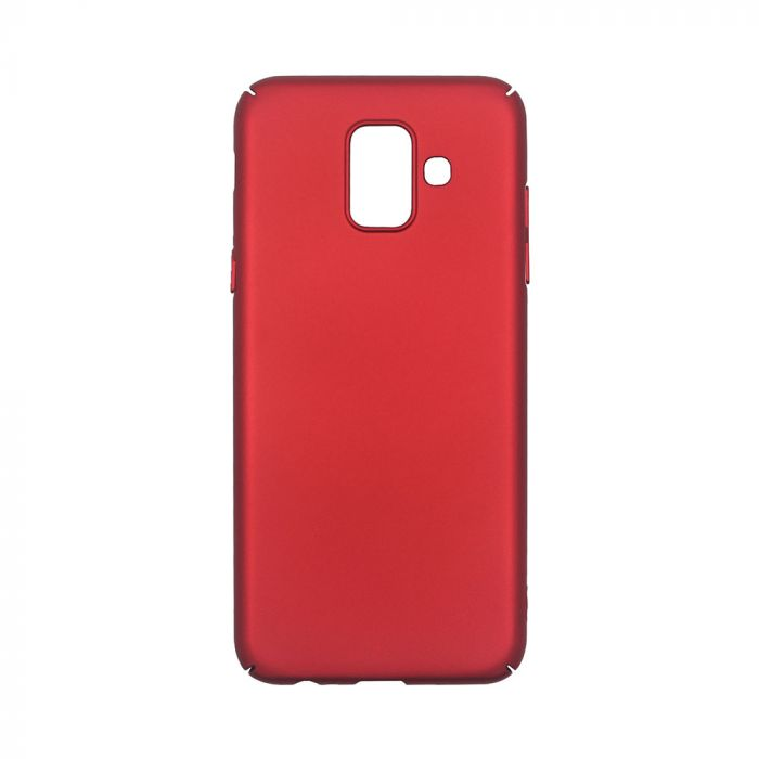 Carcasa Samsung Galaxy A6 (2018) Just Must Uvo Red (material fin la atingere, slim fit)