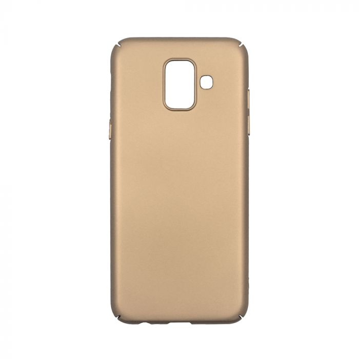 Carcasa Samsung Galaxy A6 (2018) Just Must Uvo Gold (material fin la atingere, slim fit)