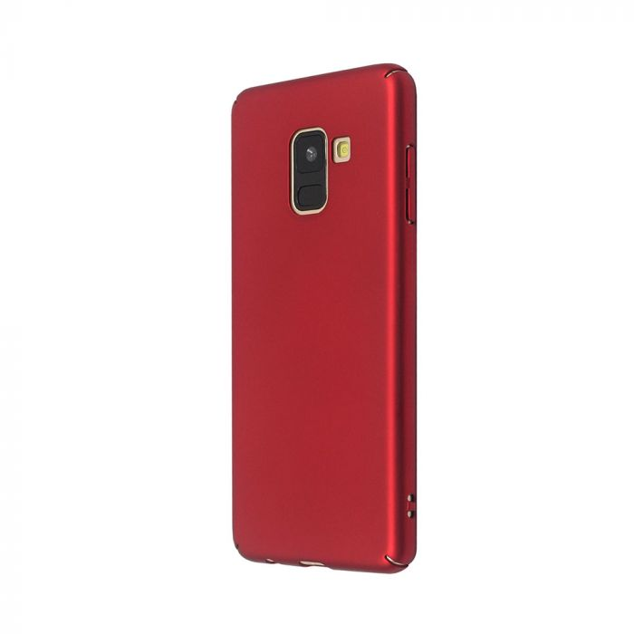 Carcasa Samsung Galaxy A8 (2018) Just Must Uvo Red (material fin la atingere, slim fit)