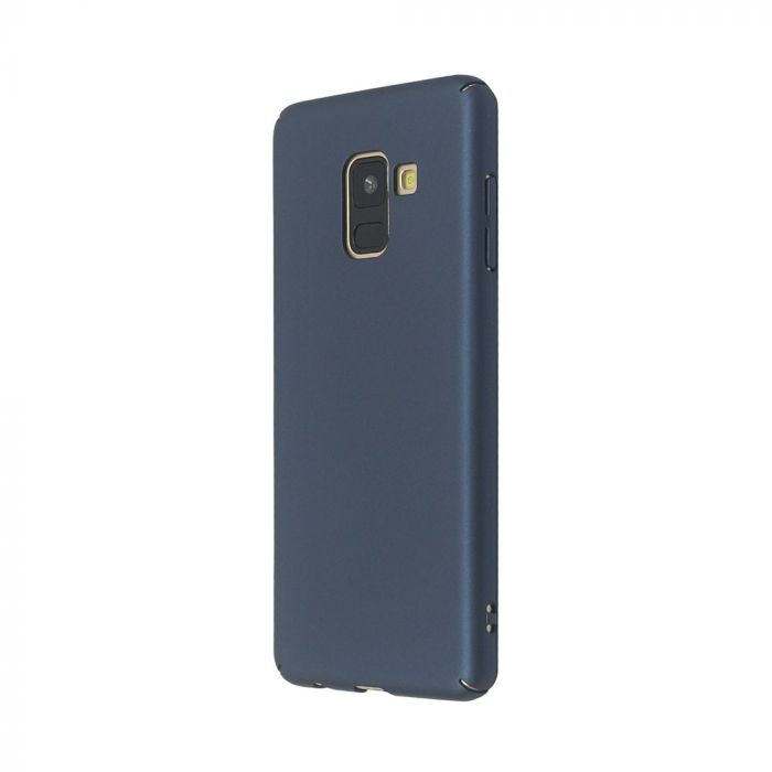 Carcasa Samsung Galaxy A8 (2018) Just Must Uvo Navy (material fin la atingere, slim fit)