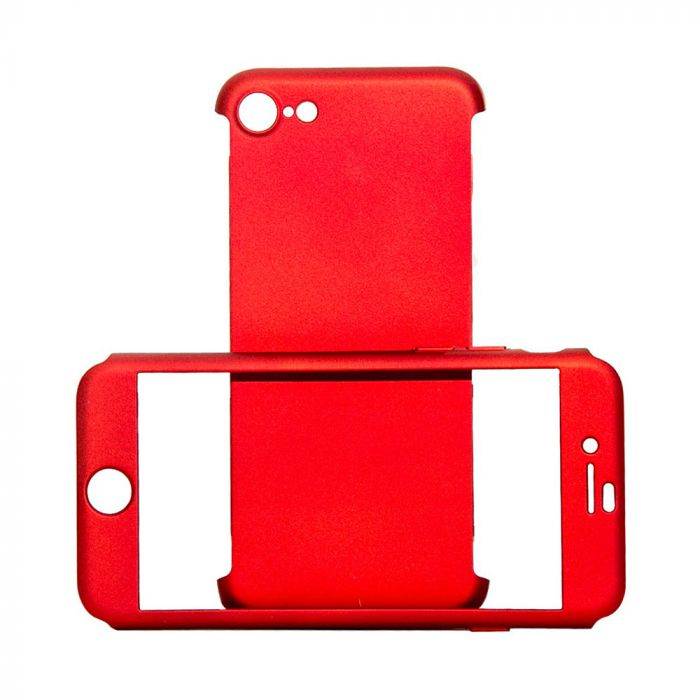 Carcasa iPhone SE 2020 / 8 / 7 Just Must Defense 360 Red (3 piese: protectie spate, protectie fata,