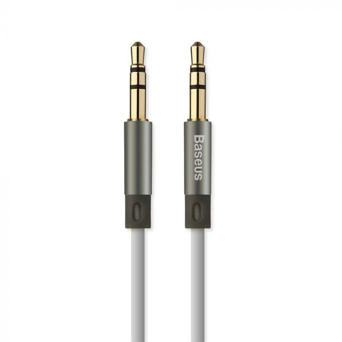Cablu Jack 3.5mm la Jack 3.5mm Baseus Audio Fluency AUX Sky Gray 1.2m