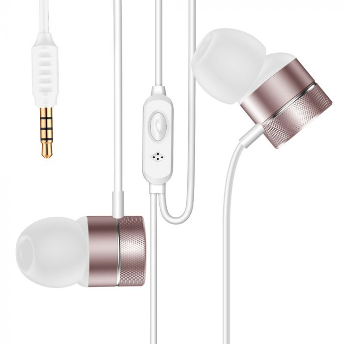 Casti Jack 3.5mm Baseus Encok H04 Rose Gold (in-ear)