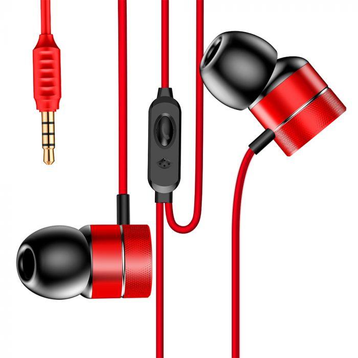 Casti Jack 3.5mm Baseus Encok H04 Red (in-ear)