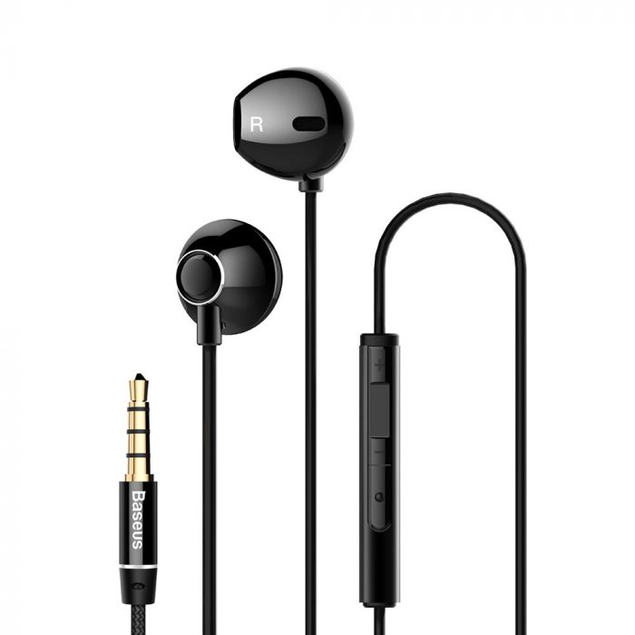 Casti Jack 3.5mm Baseus Encok H06 Black (in-ear)