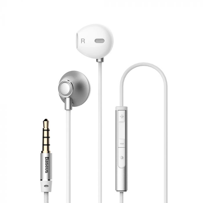Casti Jack 3.5mm Baseus Encok H06 Silver (in-ear)