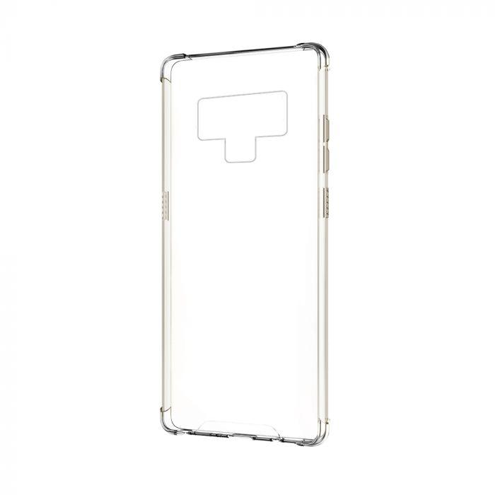 Carcasa Samsung Galaxy Note 9 Devia Shockproof Clear (antishock, spate dur si margini flexibile)