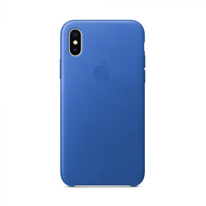 Carcasa iPhone X Apple Leather Electric Blue (piele naturala)