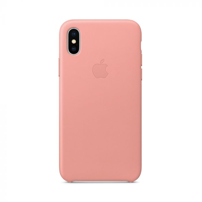 Carcasa iPhone X Apple Leather Soft Pink (piele naturala)