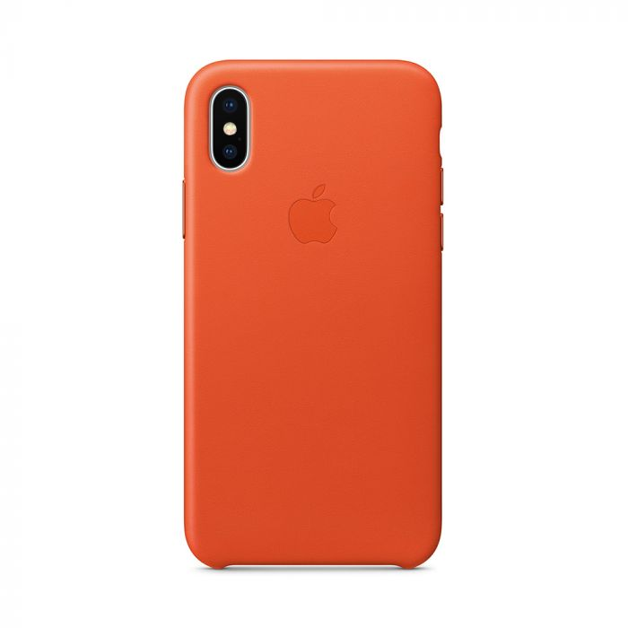 Carcasa iPhone X Apple Leather Bright Orange (piele naturala)