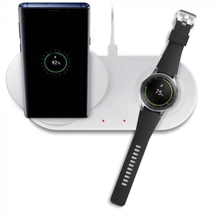 Samsung Incarcator Rapid Wireless Duo White (Stand + Pad)