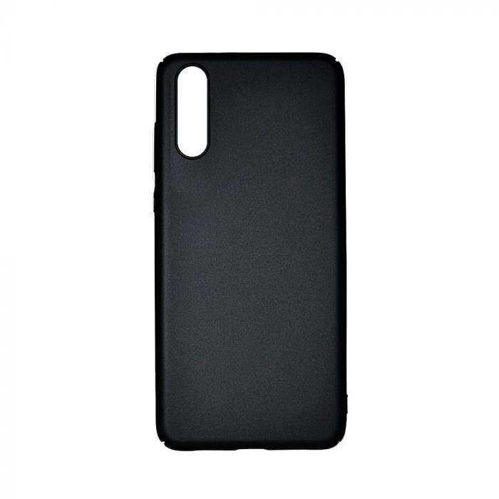Carcasa Huawei P20 Just Must Uvo Black (material fin la atingere, slim fit)