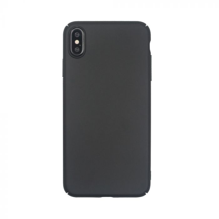 Carcasa iPhone XS Max Just Must Uvo Black (material fin la atingere, slim fit)