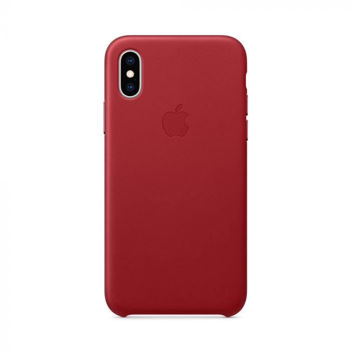 Husa iPhone XS Apple Leather Red (piele naturala)