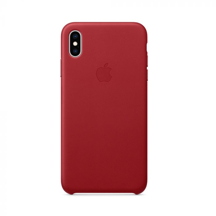Husa iPhone XS Max Apple Leather Red (piele naturala)