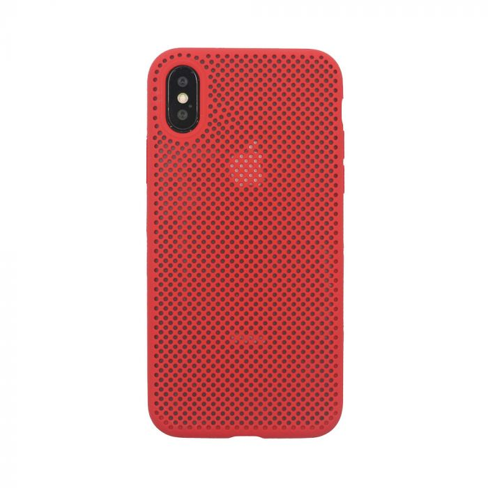 Husa iPhone XS / X Just Must Silicon Nest Red