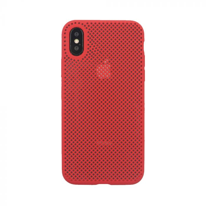 Husa iPhone XS Max Just Must Silicon Nest Red