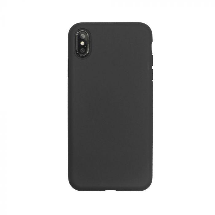 Husa iPhone XS / X Just Must Silicon Pantone Black (captusit cu microfibra, colturi intarite)