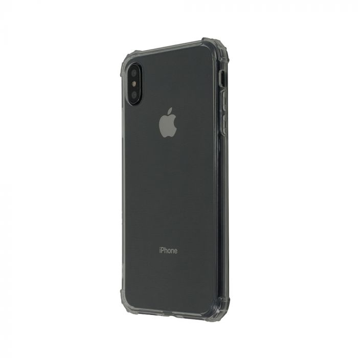 Husa iPhone XS / X Just Must Silicon Shock TPU Clear Black
