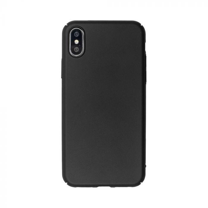 Carcasa iPhone XS / X Just Must Uvo Black (material fin la atingere, slim fit)