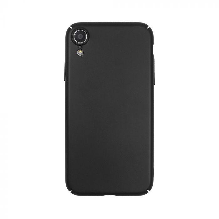 Carcasa iPhone XR Just Must Uvo Black (material fin la atingere, slim fit)