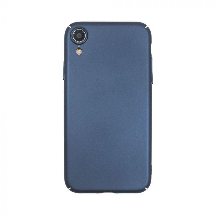 Carcasa iPhone XR Just Must Uvo Navy (material fin la atingere, slim fit)