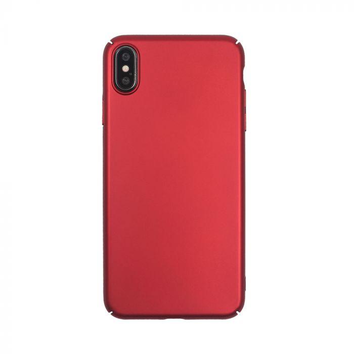Carcasa iPhone XS Max Just Must Uvo Red (material fin la atingere, slim fit)