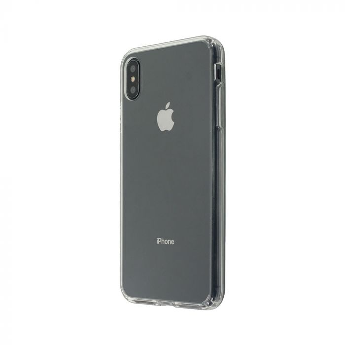 Carcasa iPhone XS / X Just Must Pure II Clear (spate transparent, margini flexibile)