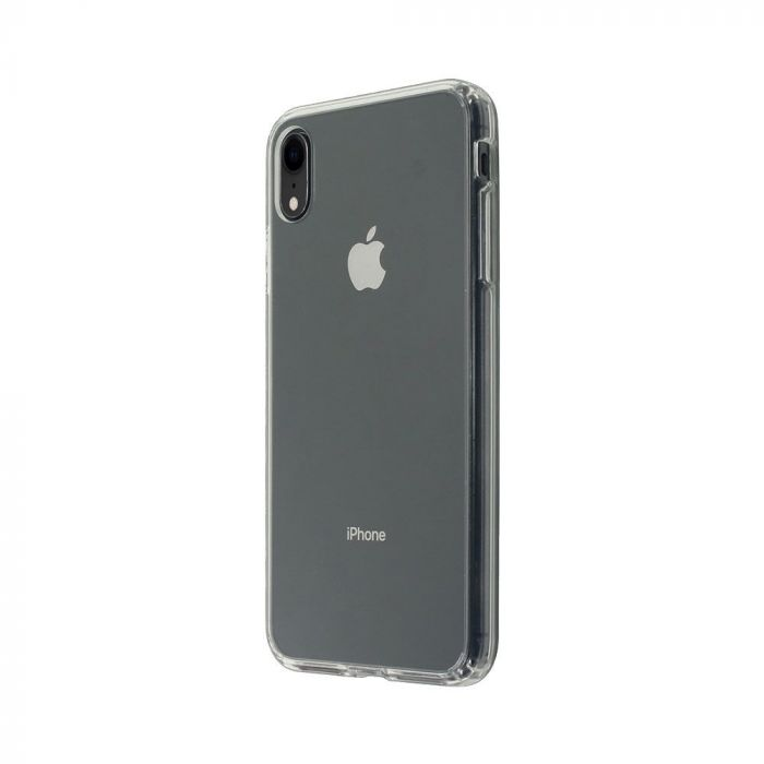 Carcasa iPhone XR Just Must Pure II Clear (spate transparent, margini flexibile)