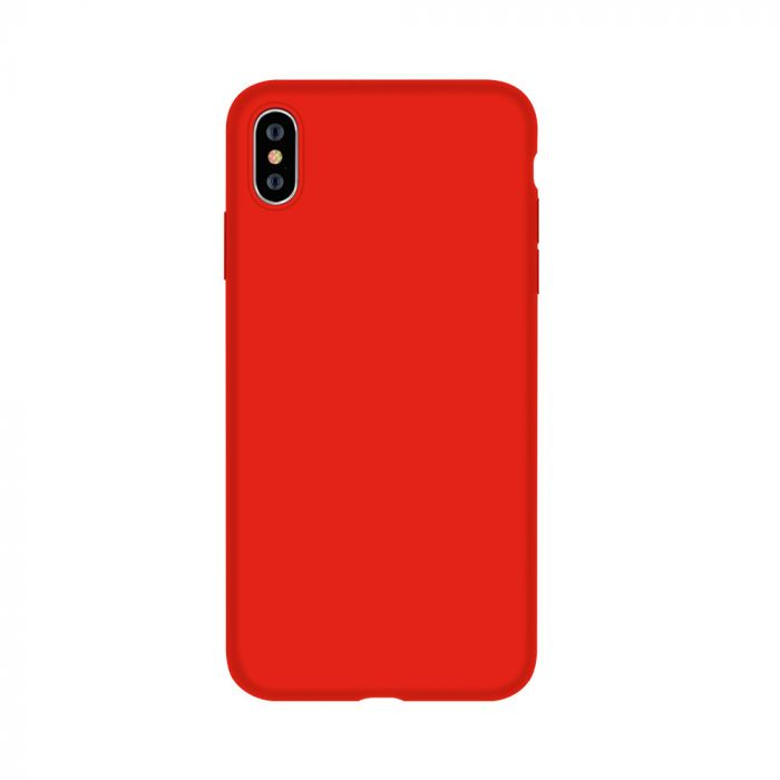 Husa iPhone XS / X Devia Silicon Nature Series Red