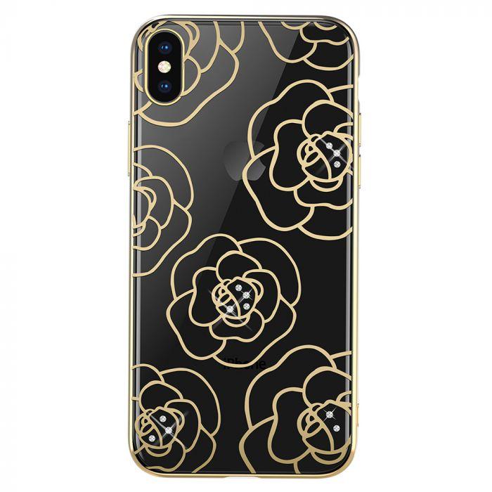 Carcasa iPhone XS / X Devia Camellia Gold