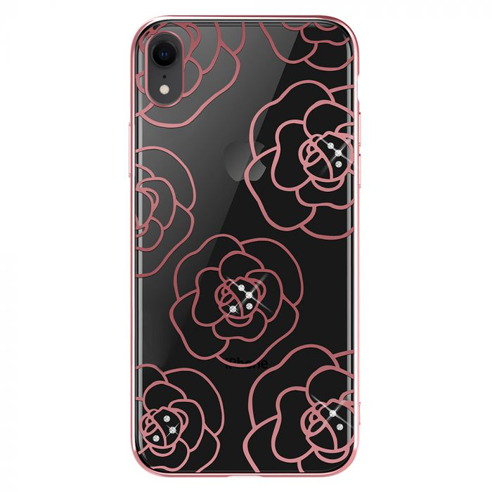Carcasa iPhone XR Devia Camellia Rose Gold