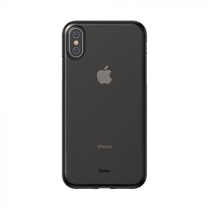Carcasa iPhone XS / X Benks Magic Lollipop Semi-Mat Negru