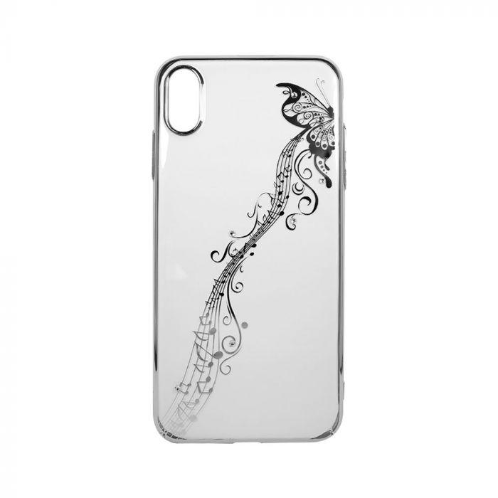 Carcasa iPhone XS Max Devia Papillon Silver